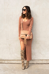 aimee_song_gucci_snakeskin_boots_camel_dress