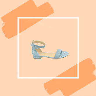 Graceland sandaal met crocoprint