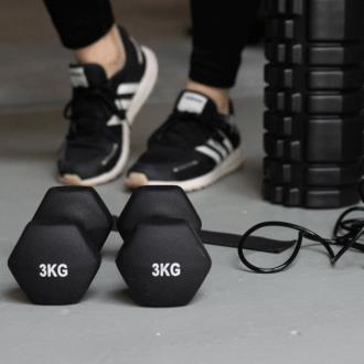 train je benen vanuit huis