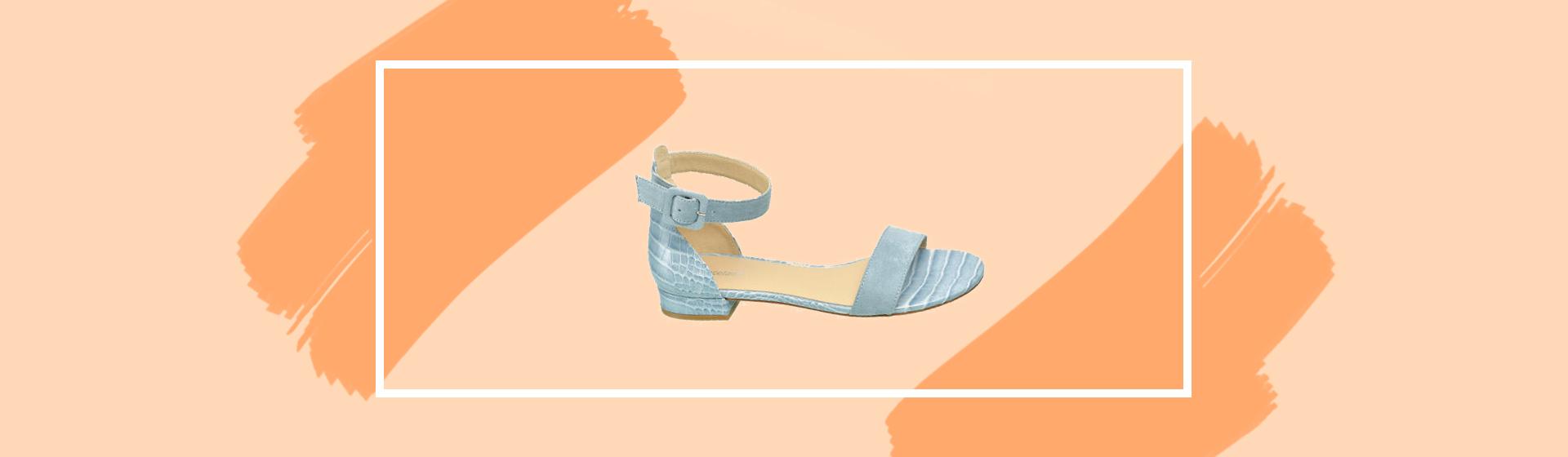 Graceland crocoprint sandaal