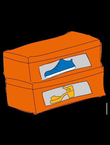 orderen met schoenendozen